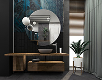 INTERIOR DESIGN . STYLISH BATHROOM . POLAND . WROCLAW