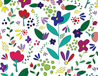 Repeating flower pattern