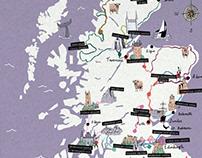 Scotland Route Map