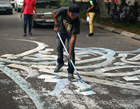 Calligraphy on street