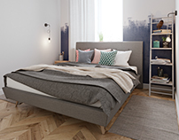 Designer solution for a small bedroom