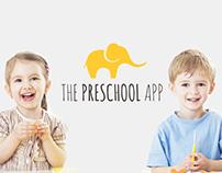 Landing page for The Preschool App