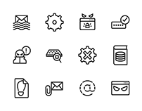 Free Line Security iconset