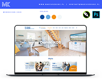 Domki KOS / logo / webdesign / onepage