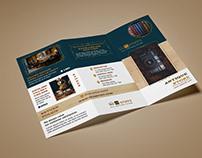 Antique Store Trifold Brochure Design.