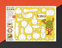 Children's menu for Pizza Hut