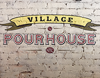 Sign painting/mural for the Village PourHouse (NYC)