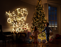 Christmas Lights - HUAWEI Retouching & Type