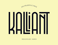 Kalliant regular sans font