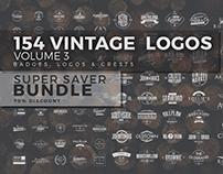 154 Vintage Logos Bundle