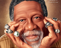 Bill Russell Digital Oil Painting by Wayne Flint