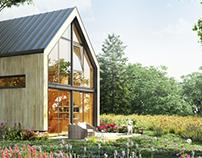 Variant of wood house for Svobo
