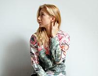 Hand-painted woolen sweatshirt