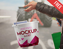 Free Bucket Mock-up in PSD