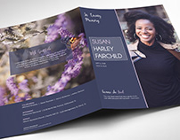 Memorial Funeral Program Large Word Publisher Template