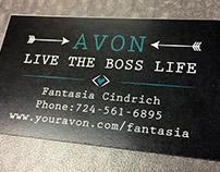 Fantasia Cindrich's Avon Business Cards