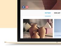 Web UI Design - Art & Soulful Gifts