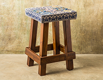Handcrafted Teak-Wood Stools