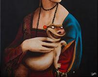Portret damy z gronostajem II