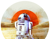 Star Wars Astromech Droid free time sketch