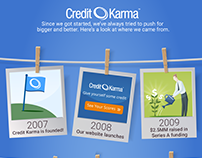 Glassdoor Infographic | Credit Karma Milestones