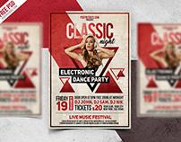 Freebie : Vintage Party Flyer PSD Template