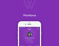 freelancers profile app ios design concept