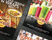 Summer posters in Hard Rock Cafe Gdańsk