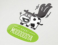 Design for brand «MOOSYA» — meat and dairy products.