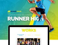 RunnerCrate Home page design