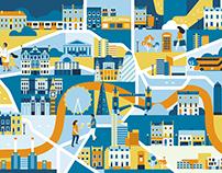 European city maps