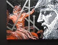 FΛLLΞN ΞMPI℟Ξ # DØVBLΞ DØSΞ / handmade acrylic canvases