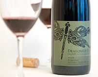 Dragonfly Cellars (Odanata) Wine Label