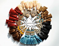 ceramic boho earrings with tassels