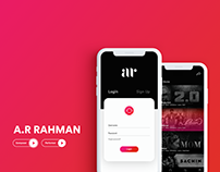 App concept and Website redesign for A.R RAHMAN
