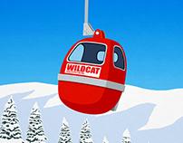 Wildcat Mountain Vintage Ski Poster