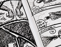 Abstract surrealistic comics about nothing