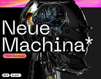 Neue Machina — Free Typeface