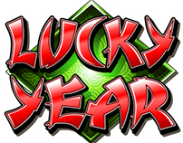 Triple Lucky Year Casino Slot Game Artwork
