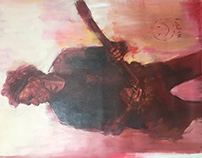 Keith Richards painting video