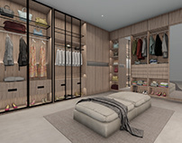 Industrial interior dressing room idea
