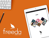 FREEDA design studio | website