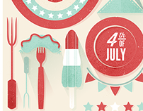 4th of July Illustration | 2015