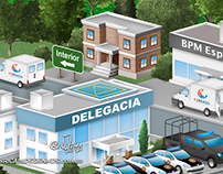 Logistic Police map 3d