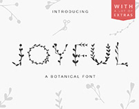 JOYFUL BOTANS - FREE BOTANICAL DISPLAY FONT