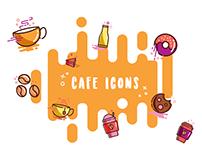 Cafe Icon Set Illustrations