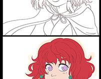 Anime Illustration Process