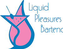Liquid Pleasures Bartending Logo