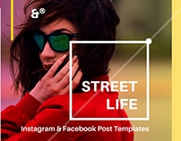 Street Life, Instagram & Facebook Post Templates