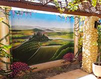Tuscany Backyard Mural